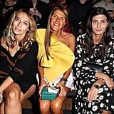 Alexandra Golovanoff, Anna Dello Russo, and Giovanna Battaglia
