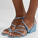 Mercedes Castillo Kelise croc-effect leather sandals
