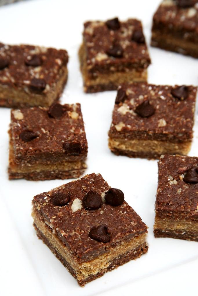 Healthy Chocolate Peanut Butter No-Bake Bars