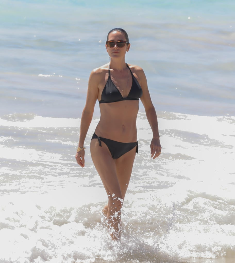 Jennifer Connelly was spotted enjoying a family vacation in St. Barts in February 2017.