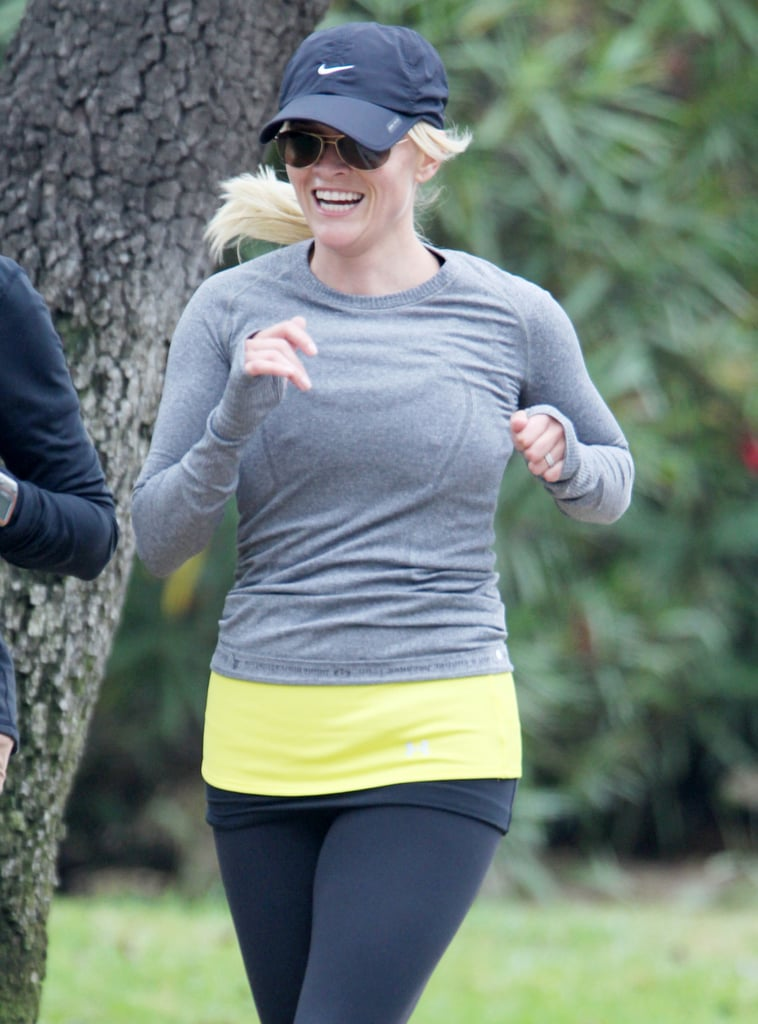 Reese Witherspoon out for a run in LA.