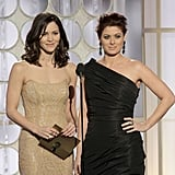 Katharine McPhee and Debra Messing