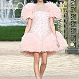 Kaia Gerber Made Her Couture Debut in This Feathery Pink Dress