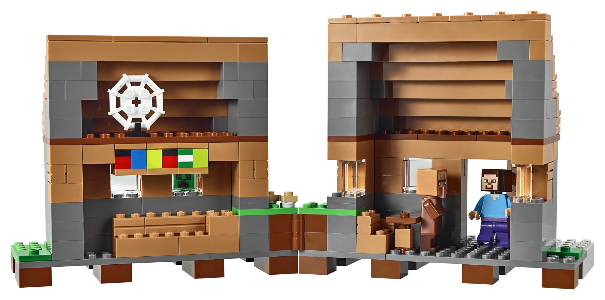 Pictures Of Lego Minecraft The Village Set Popsugar Family