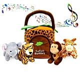 Plush Talking Jungle Animals Toy Set