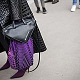 Wear the netted style with a designer bag. Surprisingly, the two complement each other as a high-and-low mix.