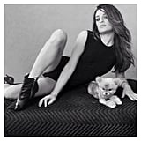 Did Lea Michele get a new dog? All we can look at are her gams! Source: Instagram user msleamichele
