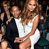 Chrissy took a seat on John's lap during the Billboard Awards in May 2015.