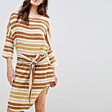 Zulu & Zephyr Stripe Tie Front Beach Dress