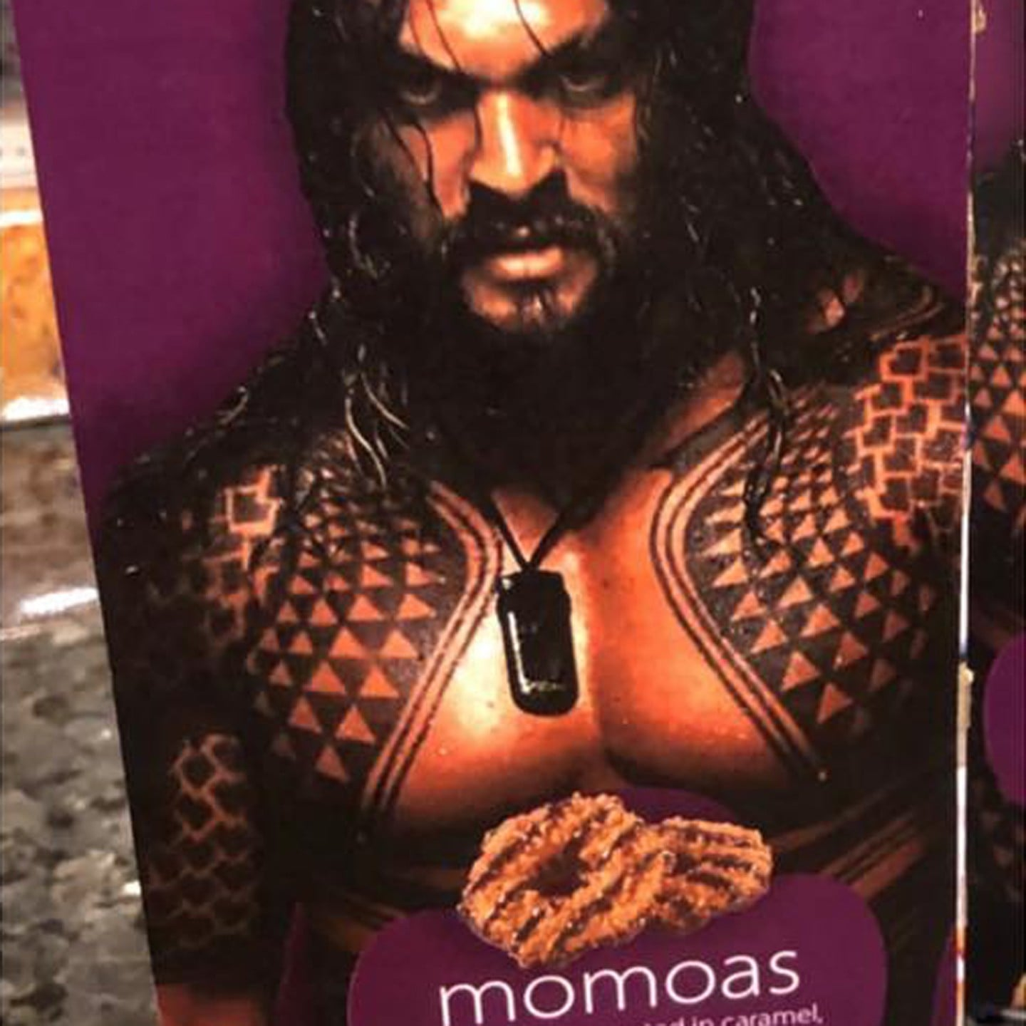 Girl Scout Sells Samoas With Jason Momoa S Picture Popsugar Family