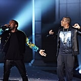 Jay-Z and Kanye West hit the runway during the 2011 Victoria's Secret Fashion Show.