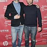 Adam Scott and Jason Schwartzman linked up on the red carpet at the premiere of The Overnight.