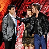 Ryan Gosling Joins Emma and Steve For Crazy, Sexy, Best Villain Presenting at MTV Movie Awards