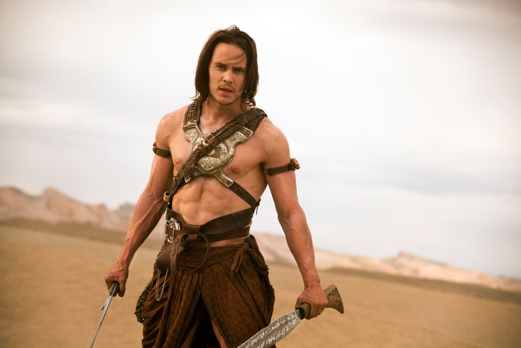 Ever since Taylor Kitsch first stole our hearts as Tim Riggins on Friday Night Lights, the sexy star has had more than a few handsome onscreen moments. From the shirtless scenes in John Carter to the hot stares on True Detective, Kitsch continues to confirm his heartthrob status. Keep reading for a look at some of Taylor Kitsch's most swoon-worthy movie and TV moments, then see what he recently told us about his time on Friday Night Lights.