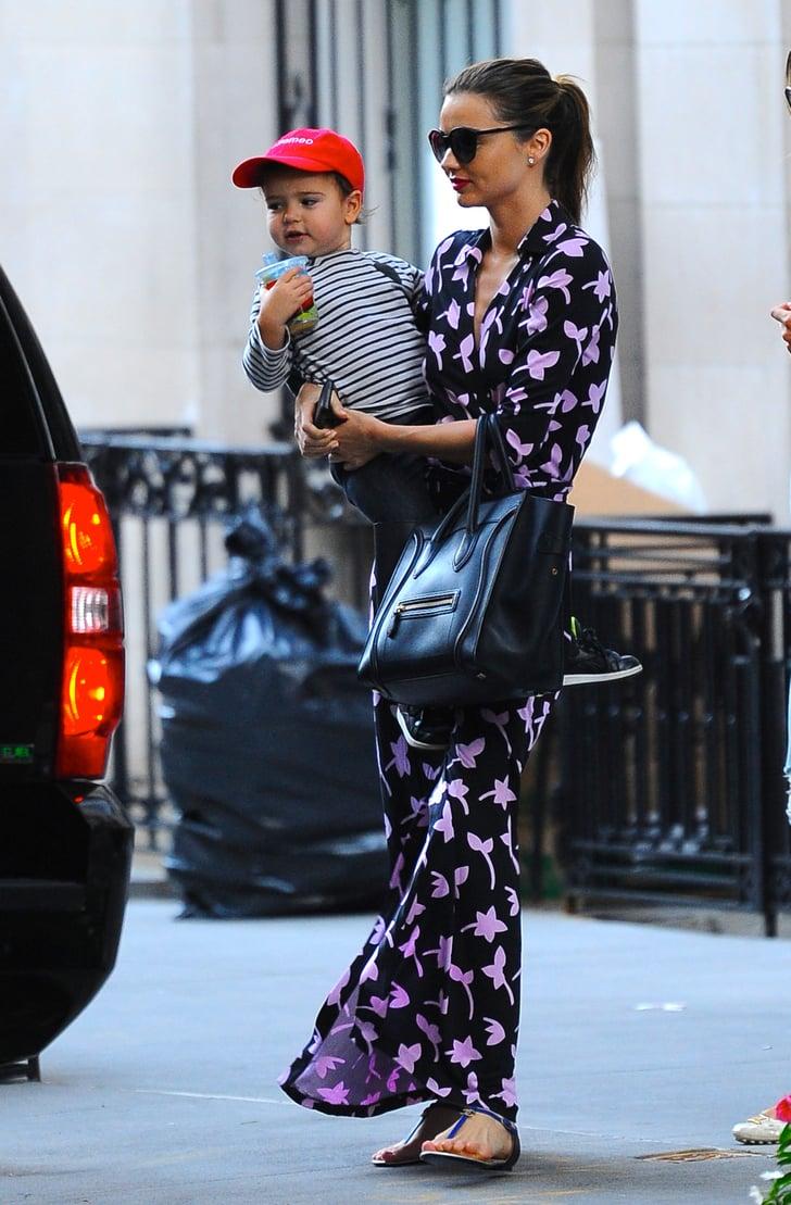 Miranda Kerr In A Dvf Wrap Dress Dvf Is Dressing The