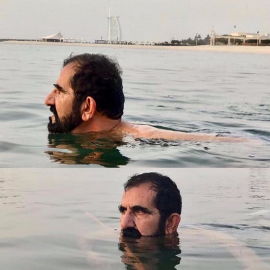 Sheikh Mo Swimming in the Gulf