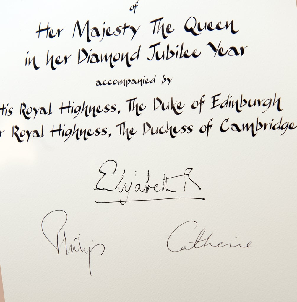 a certificate featured the signatures of queen elizabeth