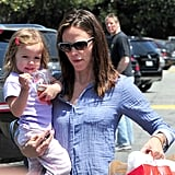 Jennifer Garner and Seraphina Affleck Visit a Toy Store in LA