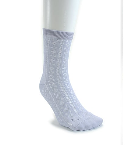 Vertical mesh socks, approx $13. This silver-grey colour would look great mixed with navy or browns.