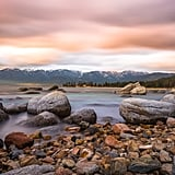 Take a photo of Lake Tahoe at sunset.