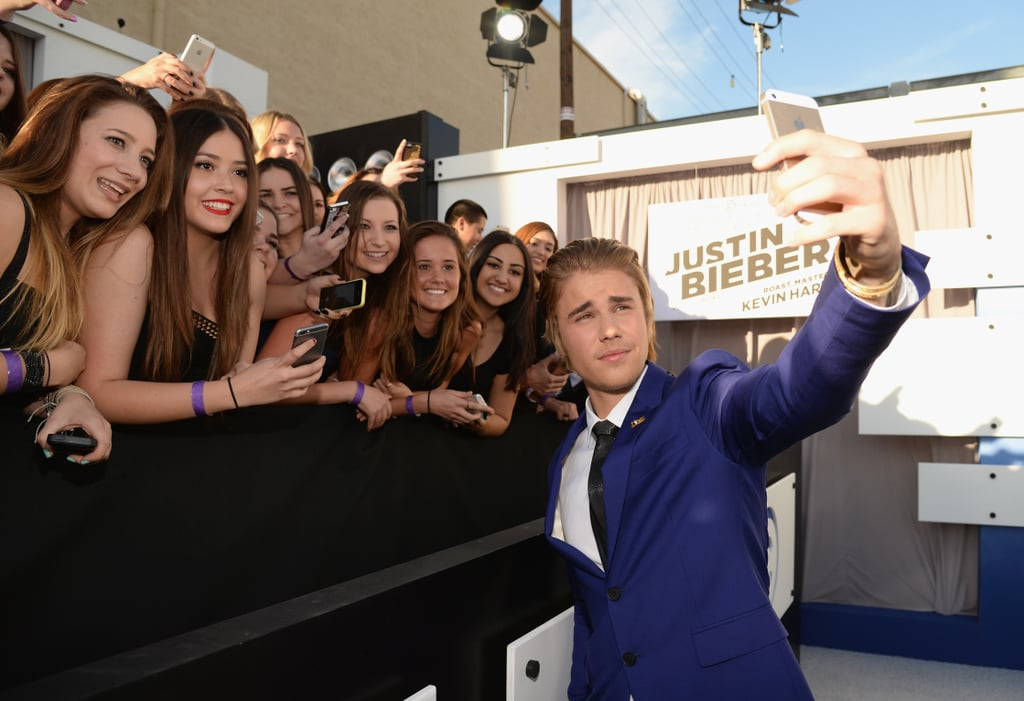 Before his Comedy Central roast in March 2015, Justin Bieber snapped a few photos with fans.