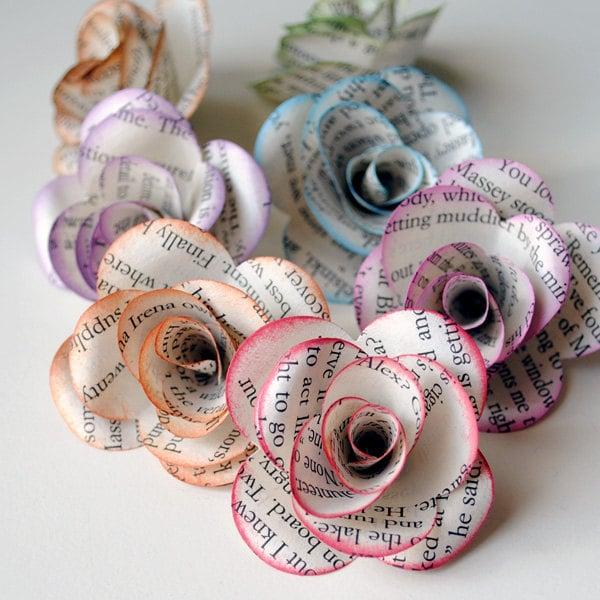 Paper flowers uses for old books popsugar australia smart living paper flowers mightylinksfo