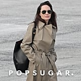 Angelina Jolie Trench Coat at the Airport