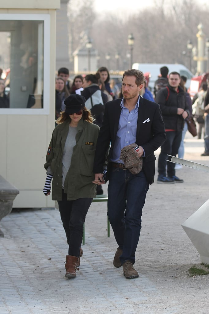 Drew Barrymore and fiancé Will Kopelman out in Paris.