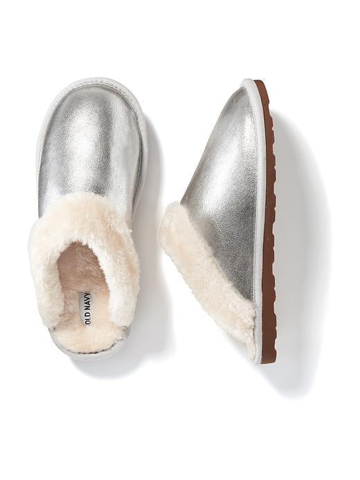 Metallic Slippers ($20)