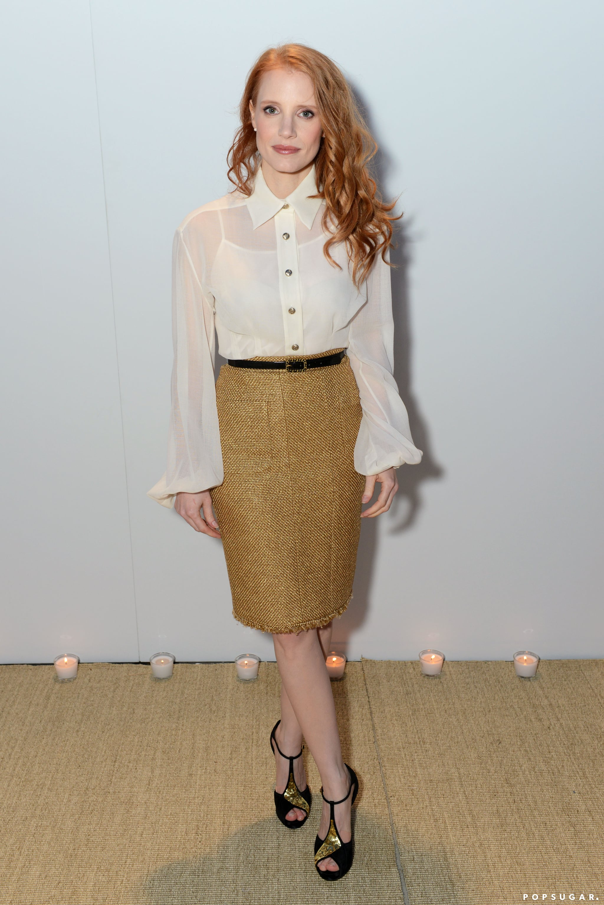 Jessica Chastain attended the Vanity Fair and Chanel dinner in Cannes on Sunday night.