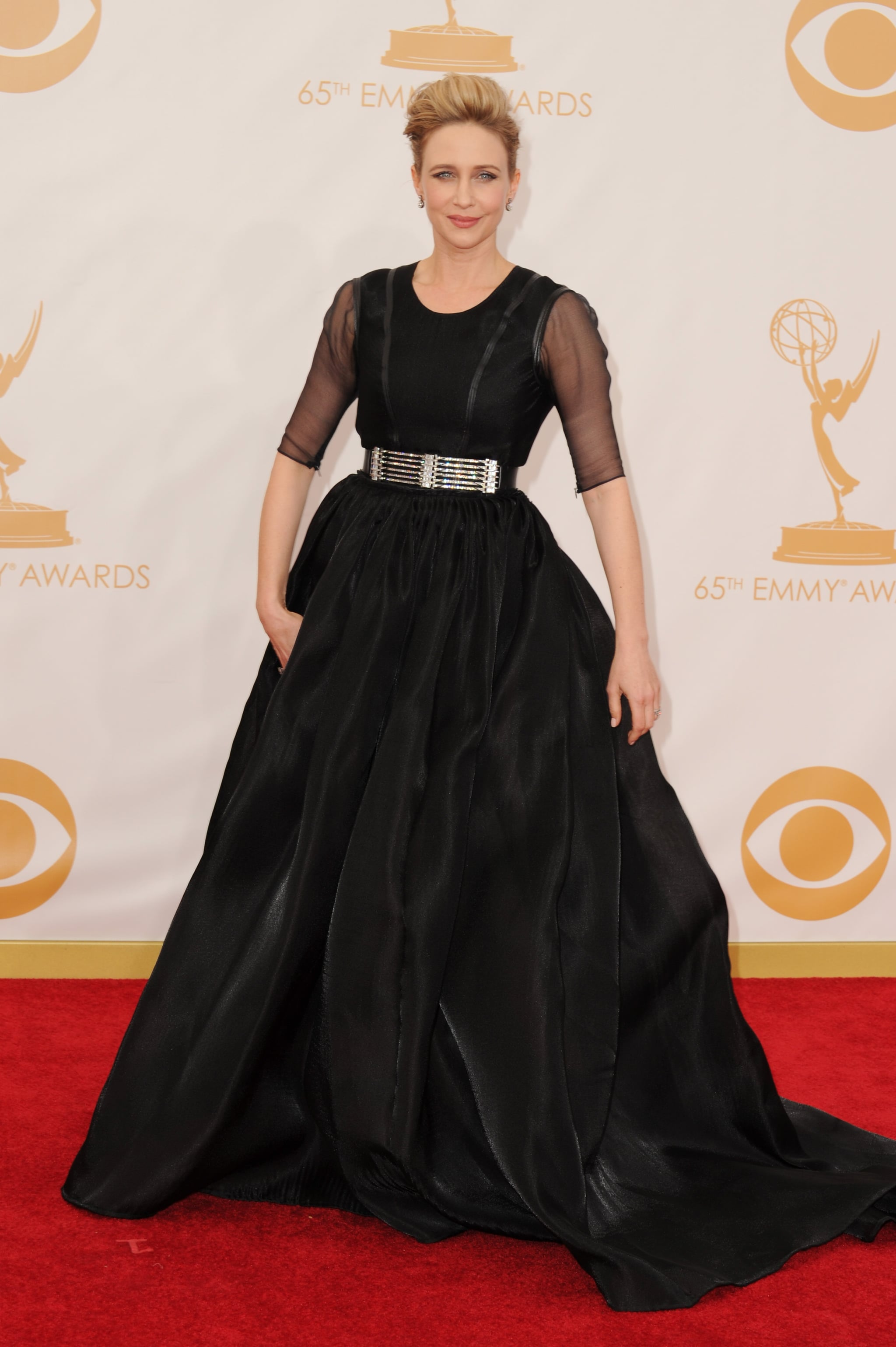 The LBD wasn't so little in Vera Farmiga's case. The actress chose a full-skirted gown with sheer, elbow-length sleeves and Fred Leighton jewelry.