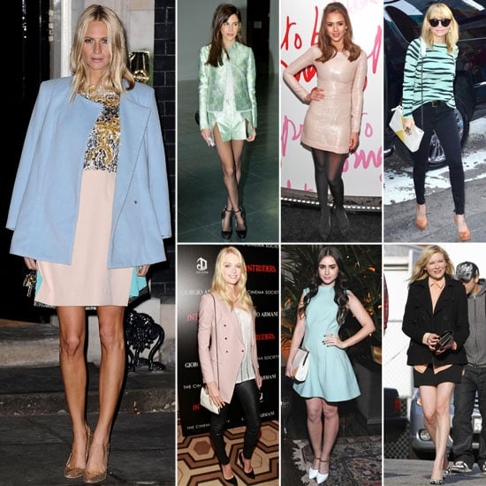 Celebrities Wearing Pastels Spring 2012