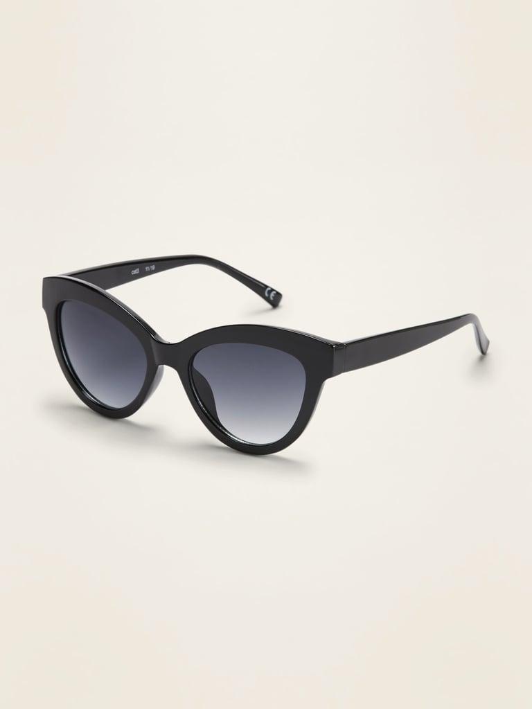 Thick-Frame Cat-Eye Sunglasses