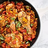 Spiralized Golden Beet Arroz Con Pollo