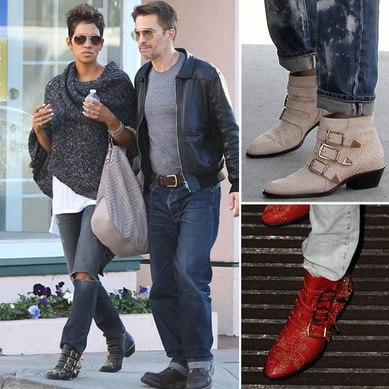 Celebrities Wearing Studded Chloe Ankle Boots