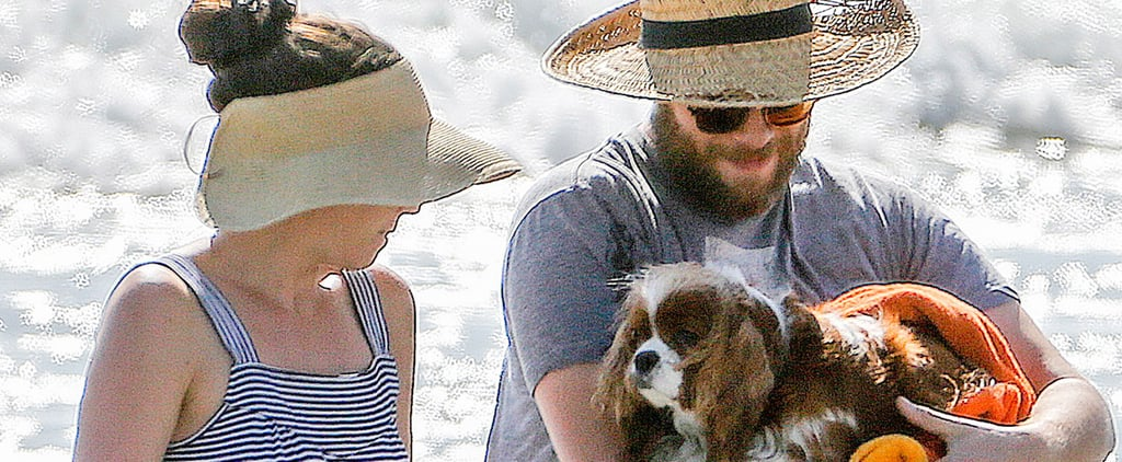 Seth Rogen Tries to Take His Dog For a Swim, but She Isn't Having It
