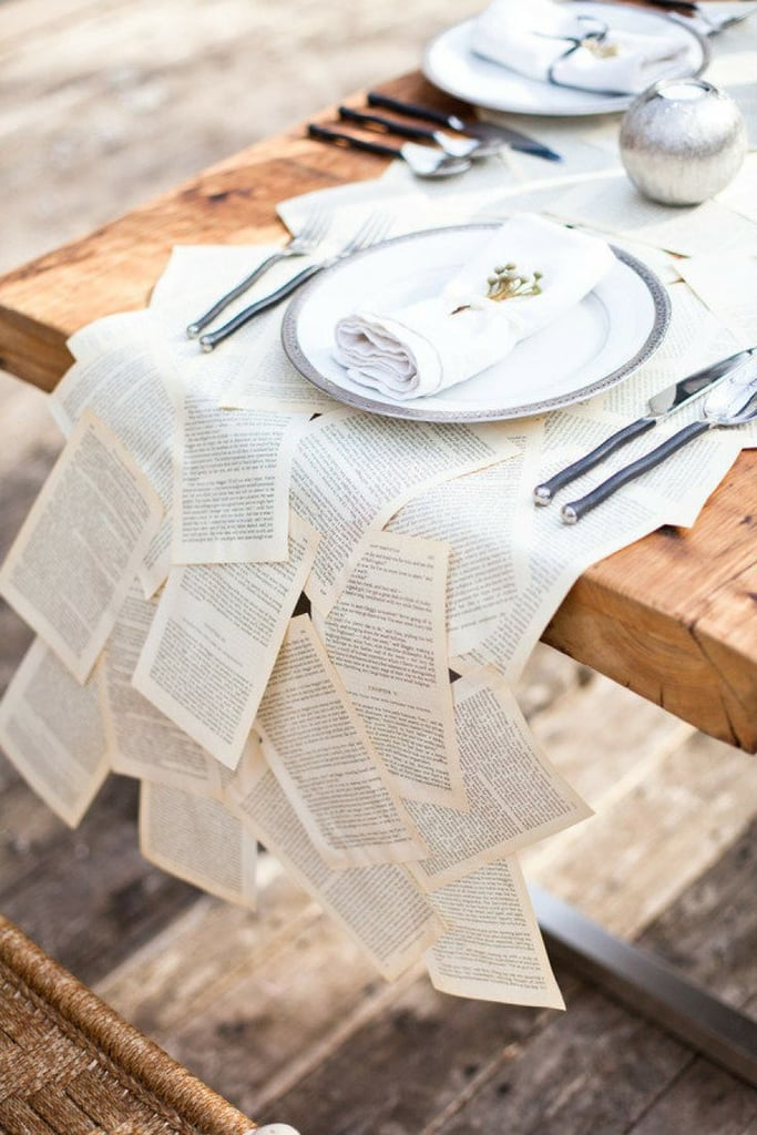 Book Page Table Runner