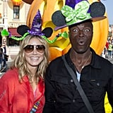 Heidi Klum and Seal joke around at Disneyland.