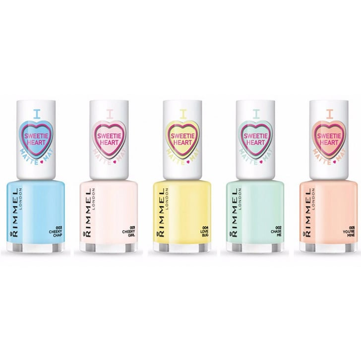 Rimmel London Sweetie Heart Matte Pastel Nail Colours, $5.95 each