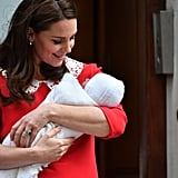 Kate Cradled the New Royal Baby While Sporting Some Seriously Bouncy Curls