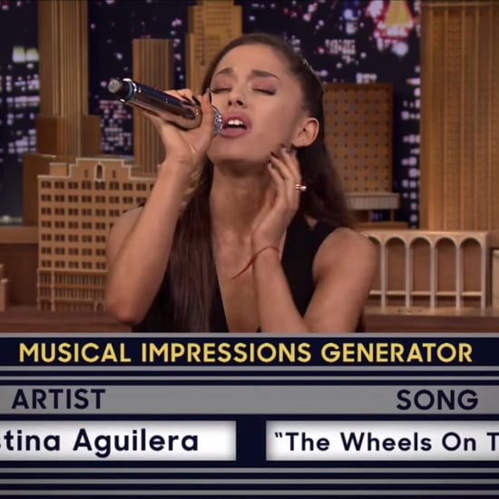 Ariana Grande's Celebrity Impressions on Tonight Show Video