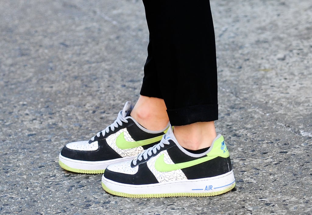 Sneakers with a high fashion tilt.