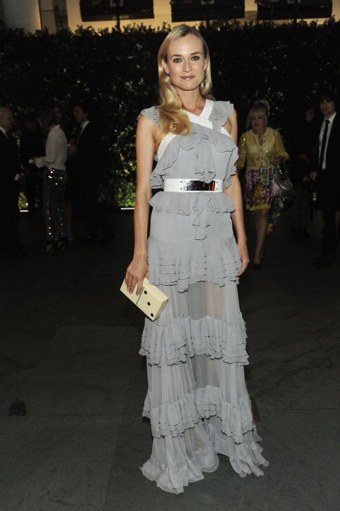 Diane Kruger wore a gray gown for the NYC event.