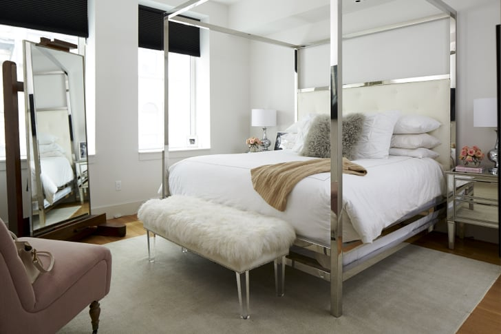 Arielle 39 s bedroom epitomizes simple glamour tour for Arelle ikea