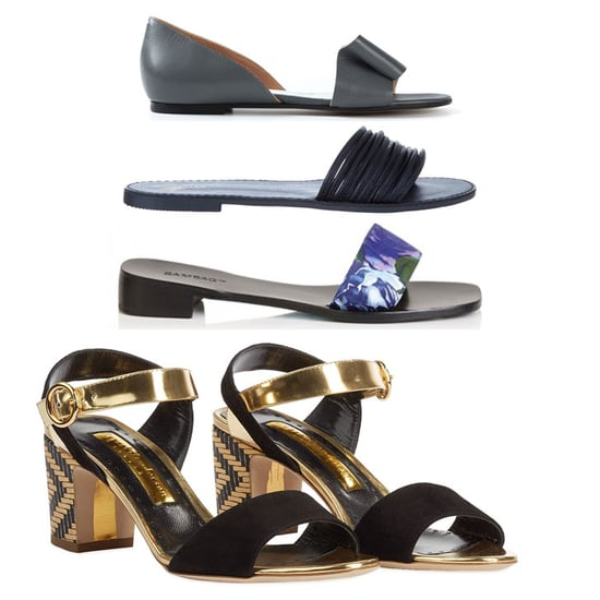 Flat Sandals, Slides and Mid-High Heels to Shop Online