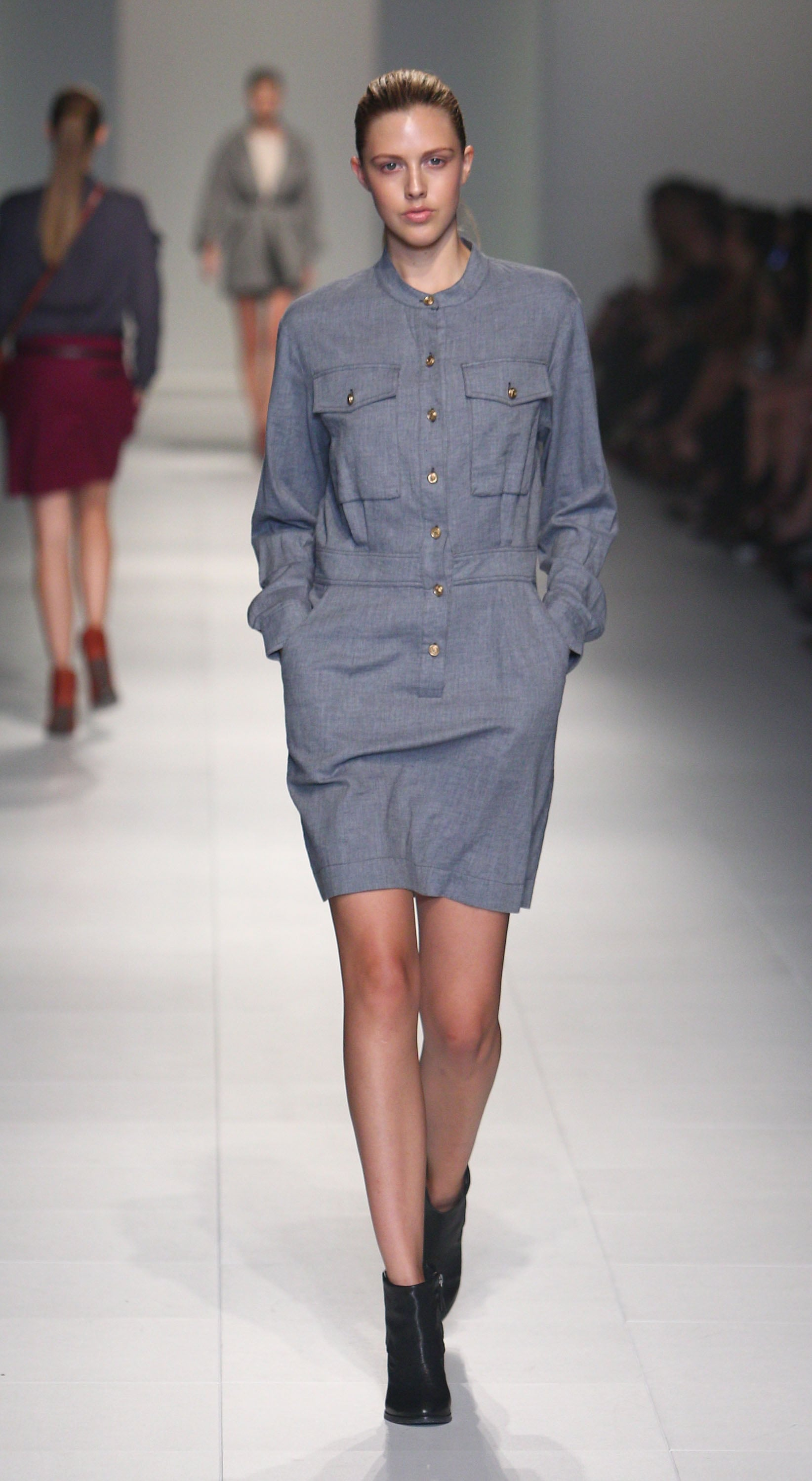 The grown up denim dress, as seen at Laurence Pasquier.
