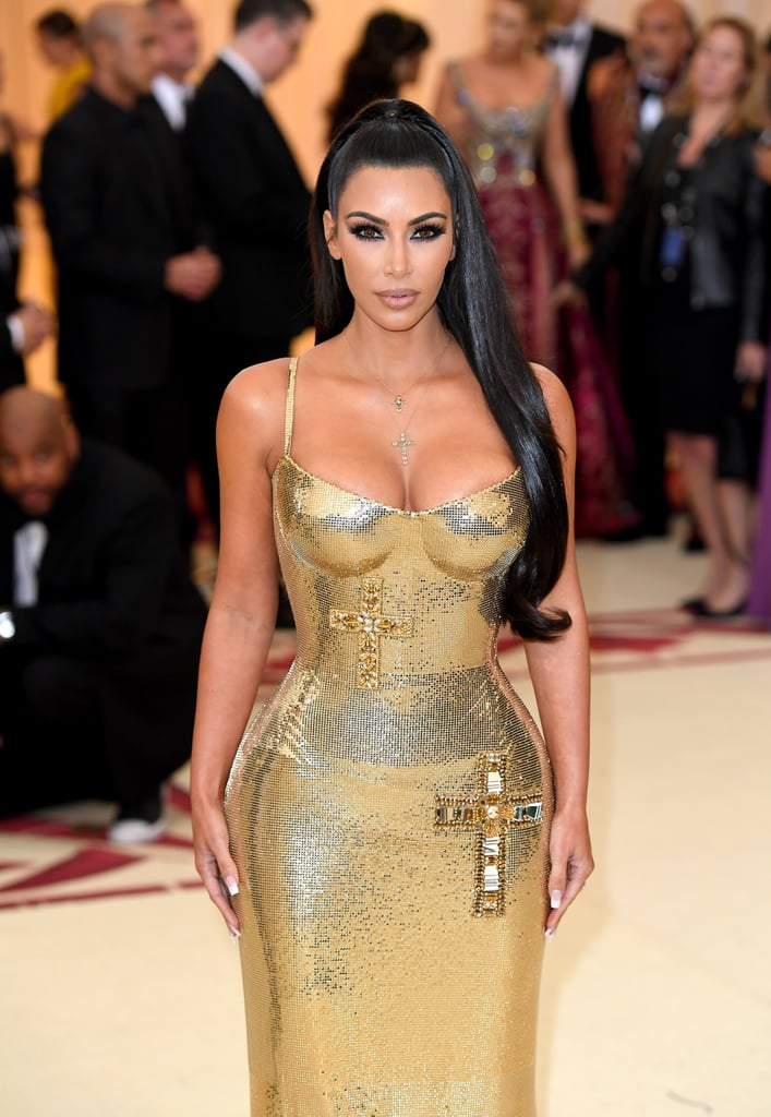Pride Auto Body >> Kim Kardashian Versace Dress at the 2018 Met Gala   POPSUGAR Fashion Photo 15