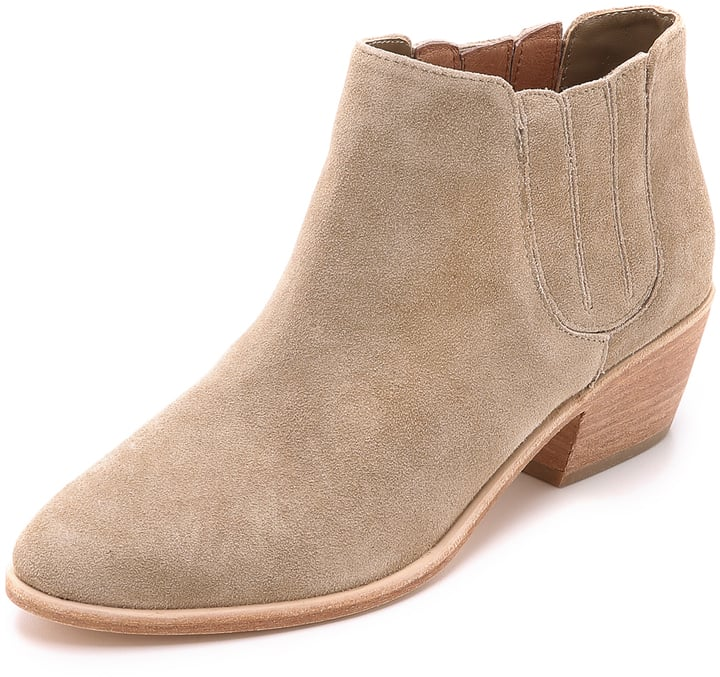 We can dance all night long in these Joie suede booties ($325).