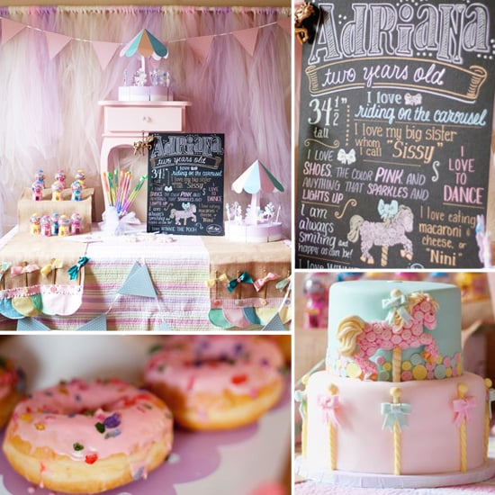 A Pretty-in-Pastel Carousel Party With an Amazing Chalkboard Tribute