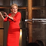 Bette Midler appeared on stage at the Michael Kors Golden Heart Gala in NYC.